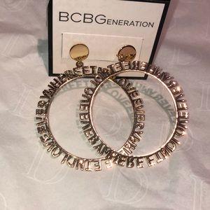 BCBG good hoop earrings